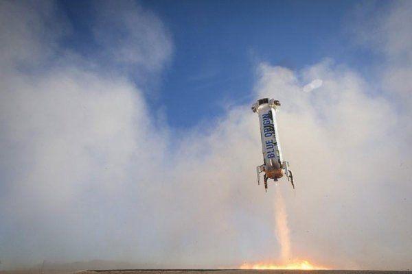 Bezos praises third Blue Origin launch-and-land rocket test as 'perfect'