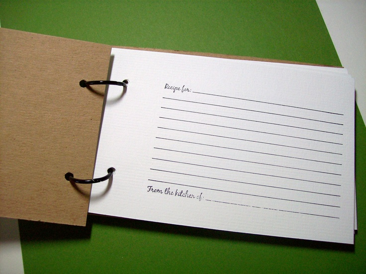 Recipe book DIY. via Etsy.