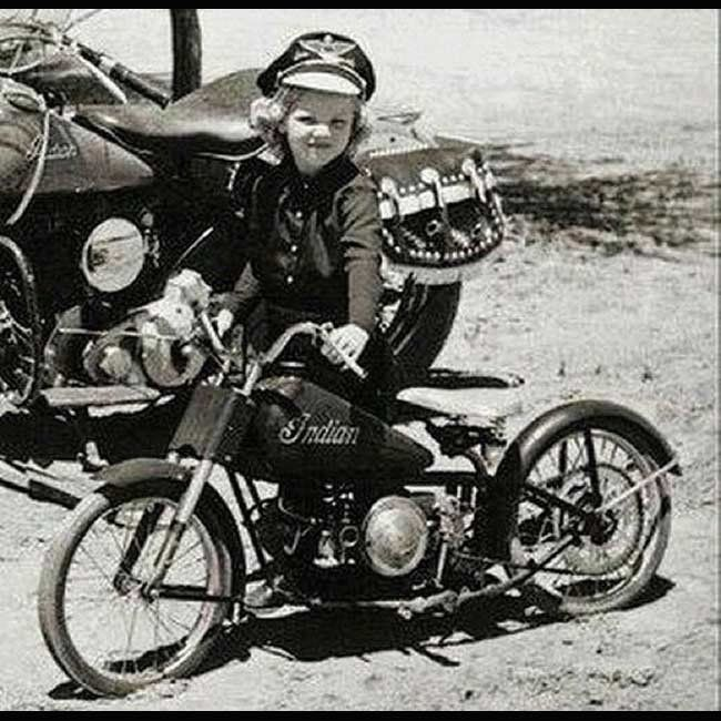 Girl with her little Indian Motorcycle ------------------ **MORE Old Indian Motorcycles Vintage Pictures http://blog.lightningcustoms.com/old-indian-motorcycles ------------------ #indianmotorcycle #motorcycle