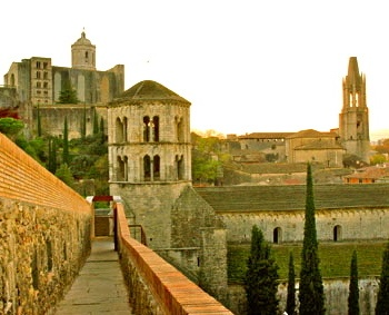 Fell in love with this city. Walked around the old city walls as the sun set. Girona, Spain