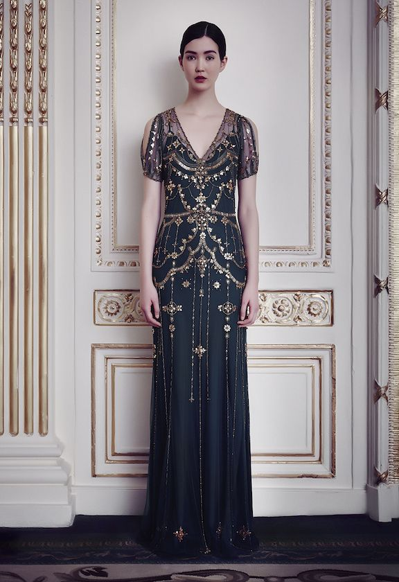 Navy wedding dress. This gown! I'm in love. From Jenny Packham.
