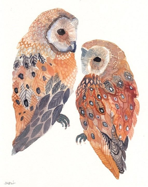 gorgeous gorgeous gorgeousTattoo Ideas, Inspiration, Watercolors, Illustration, Owls Painting, Owls Art, Things, Barns Owls, Birds