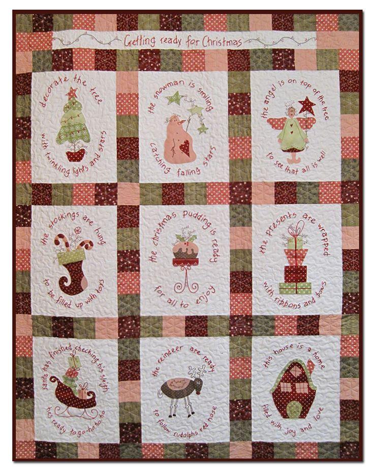 134 best CHRISTMAS | Joy to Make images on Pinterest | Quilt kits ... : patchwork quilt kits australia - Adamdwight.com