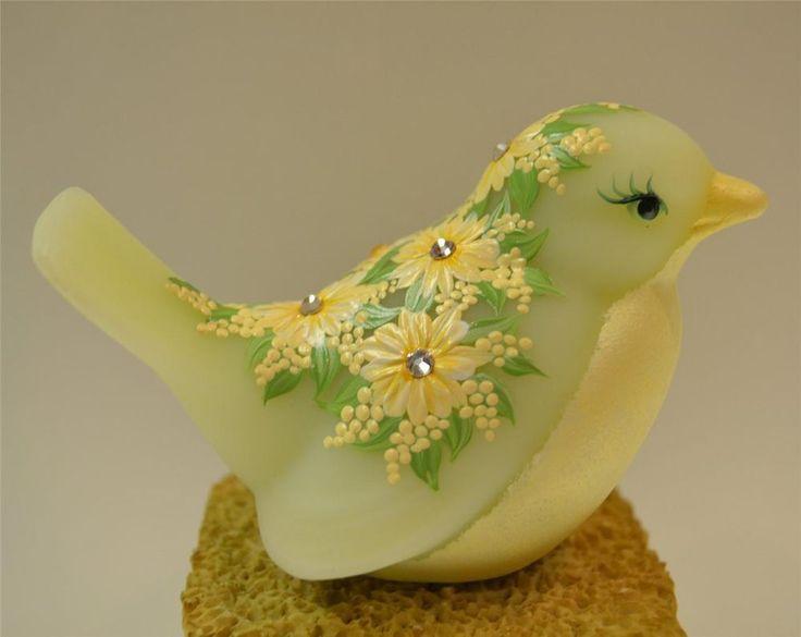 Gorgeous Fenton Swarovski Crystal bird figurine.