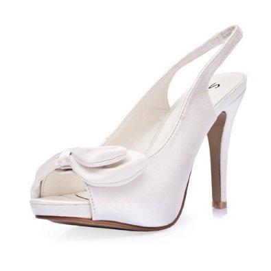 women's elegant satin upper high heel strappy sandals with