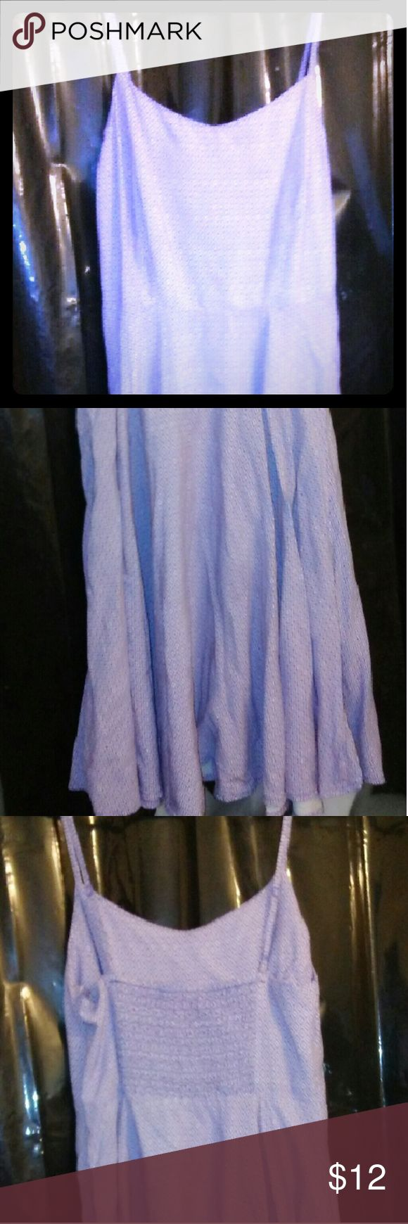 Purple and white Old Navy dress Size XS PETITE, fits more like a XS/S Excellent condition, worn 1x Spaghetti straps are adjustable Zipper opening on one side Rucched center in back Skirt looks like a romper style but its a dress 100% rayon  Beautiful purple and white design Lightweight and cool for Spring and Summer! Old Navy Dresses Mini