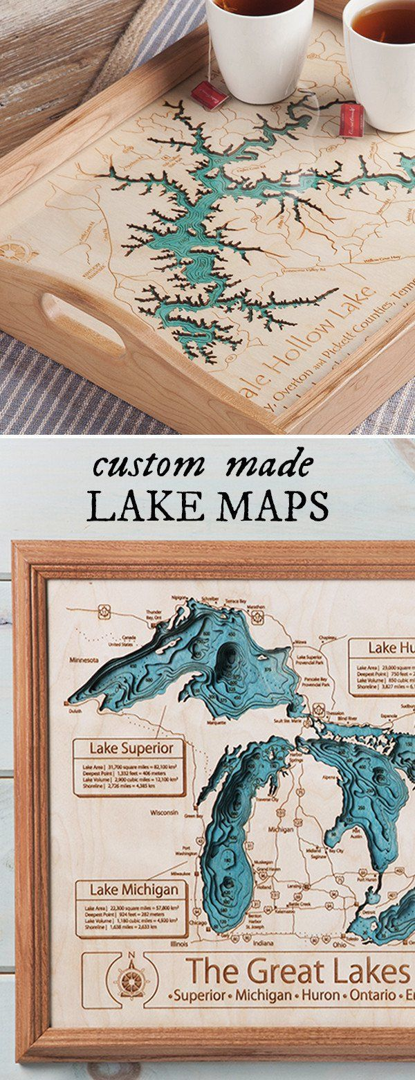Personalized wall art and cribbage boards from Lake Art discovered by The Grommet. Beautiful art for your home, cabin or lake cottage. Each piece is made entirely from scratch, by hand, and even the framing is beautiful.