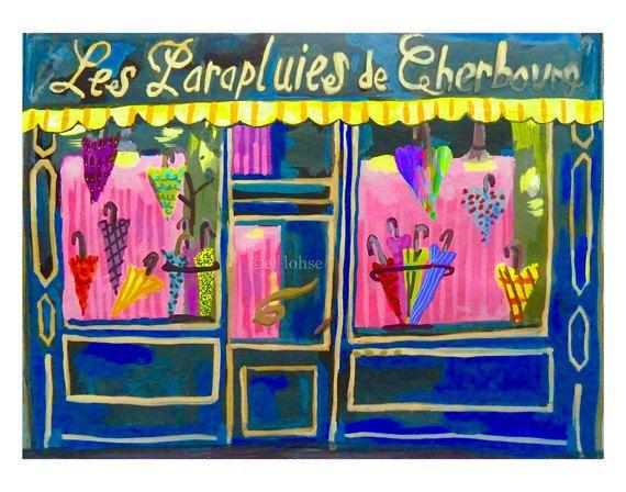 Umbrella shop  The Umbrellas of Cherbourg  Les by CheeryOde