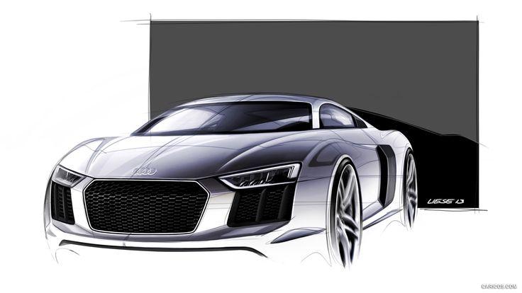 2016 audi r8 v10 wallpaper conception cars croquis voiture dessin et design industriel - Croquis voiture ...