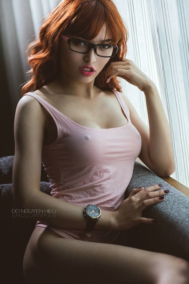 Glasses redhead girls with