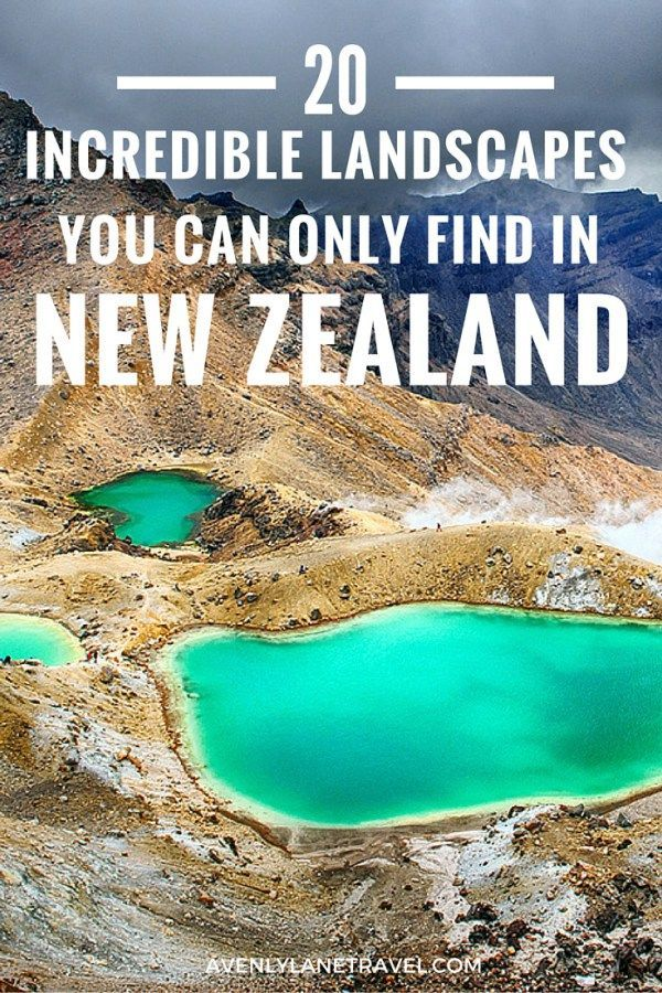 The Tongariro Alpine Crossing is famous for volcanic activity, its beautiful Emerald Lakes, and Maori religious sites. Click through to see more incredible landscapes in New Zealand!