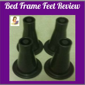 Bed Frame Feet by Suedys Place replace bed frame wheels with non-slip glide feet that work.