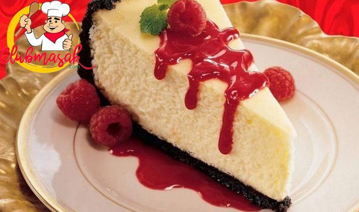 Resep Cheese Cake Saus Rasberry, Sajian Keju Krim, Club Masak