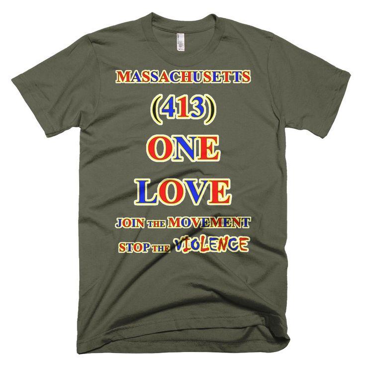 1319-T ... MASSACHUSETTS ... Area Code 413 ... ONE LOVE ... T-SHIRT