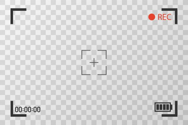 Camera View Viewing Images Visual Screen Focusing Video Recording Screen On A Transparent Video Design Youtube Youtube Design First Youtube Video Ideas
