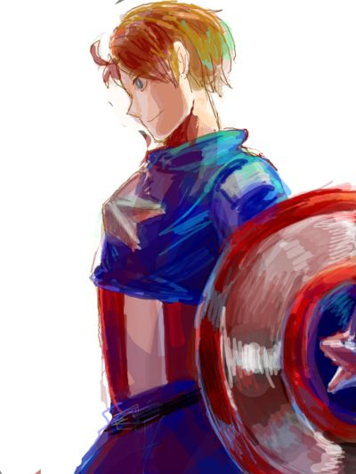 America :) HOTHOT Caption America is really just Alfred in a super hero outfit and everyone knows it.