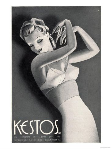 Womens Underwear Kestos Corsets Girdles Bras, UK, 1930 Premium Poster