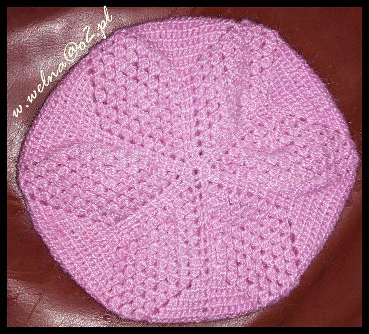 Czapka :)  #handmade #czapka #cap #rose #róż #włóczka #wool