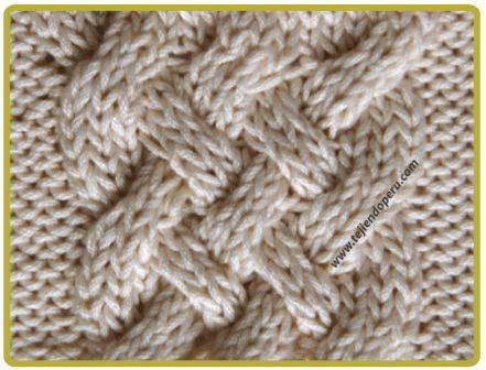 Trenza u ocho doble | Trenzas, ochos o cuerdas tejidos en dos ...