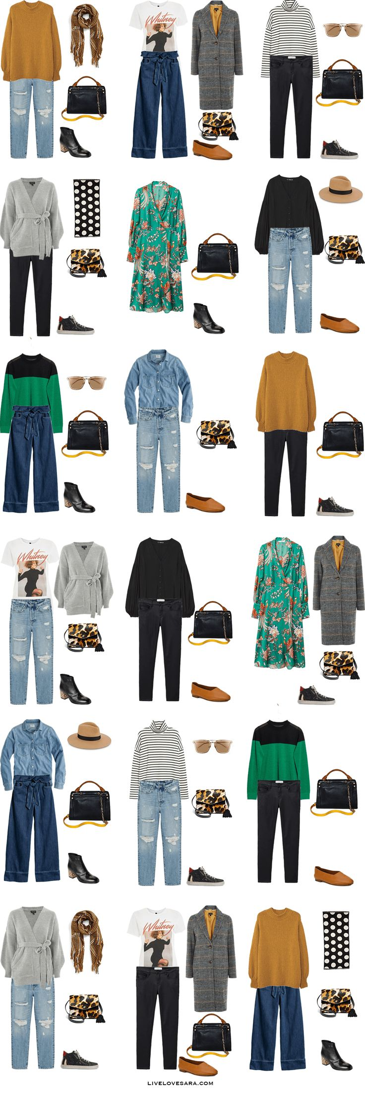 Travel Capsule Wardrobe: 10 days in San Francisco in March. What to Wear: Outfit Options. Spring 2017