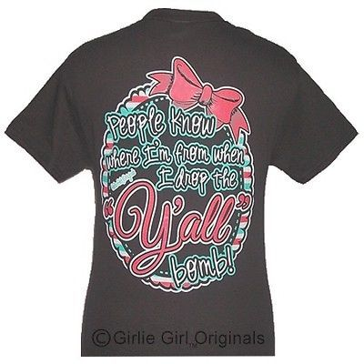 """Girlie Girl Originals """"Y'all Bomb!"""" Chocolate ADULT unisex fit t-shirt"""