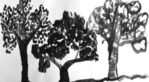 Ink trees-- this would also work for fiddle di fi