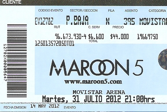 Maroon 5 - Live in Santiago, Chile 29-08-2012