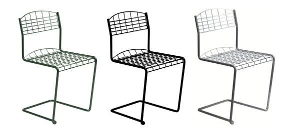 High-Teck chair and table - Grythyttan Stålmöbler