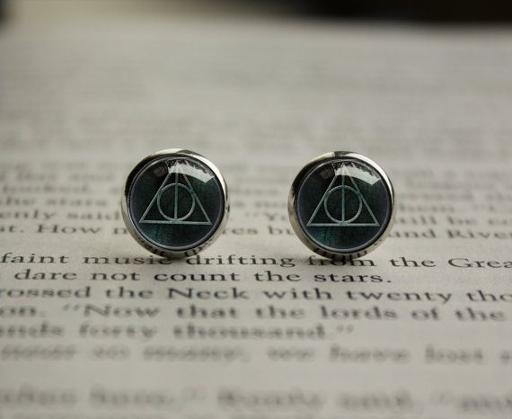 Harry Potter Deathly Hallows inspired studs