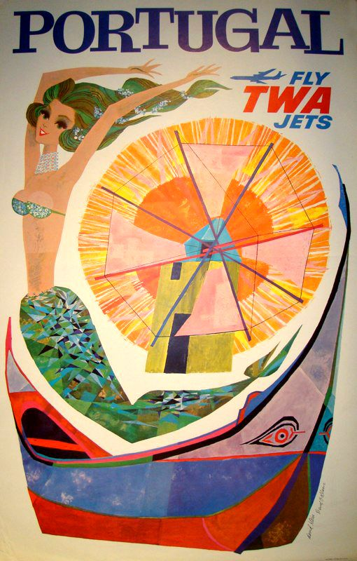 MID-CENTURIA : Art, Design and Decor from the Mid-Century and beyond: David Klein Travel Art