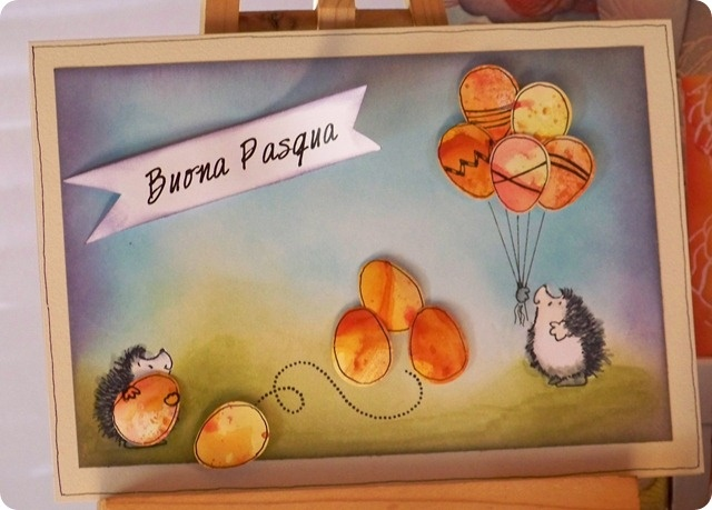 Happy Easter bookscrapping card / Cartoncino bookscrapping di auguri di Pasqua