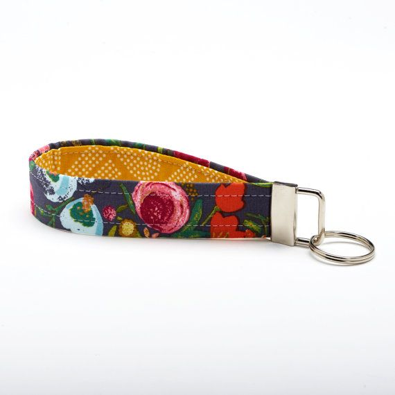 Floral Lanyard Flower Key Fob Unique Key Chains  Blooms on