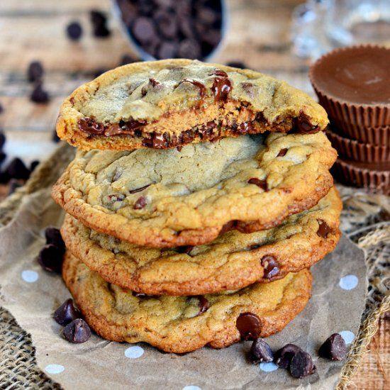 Chewy Chocolate Chip Cookies. A cookie all peanut butter and chocolate ...