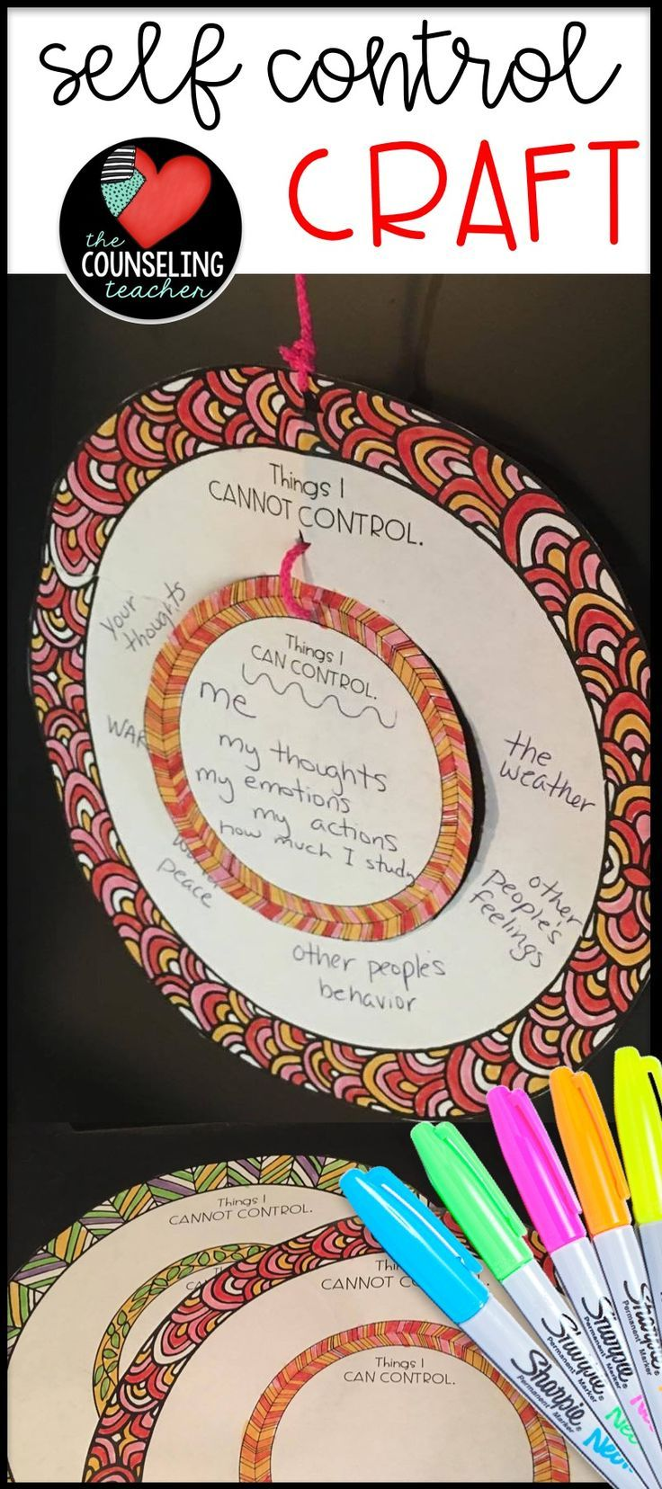 Students will enjoy this calming zen activity that helps them distinguish between things that they can control and those that they cannot control. Once they learn to refocus on the things that they can control, they will feel more self control. The focus of this craft is to develop a positive mindset about life and to learn to let go of things that are not worth worrying over.