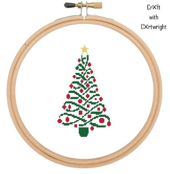Cross stitch pattern Christmas tree £2.40 by CraftwithCartwright on Etsy