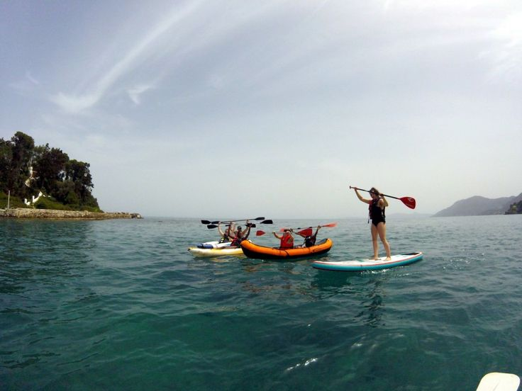 Stand up paddle boarding (SUP) around Mouse Island | Tours and Activities Corfu, Greece