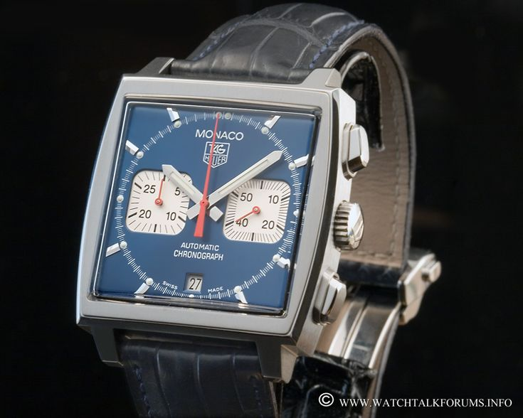 """TAG Heuer Monaco Calibre 12 Chronograph: one more of my childhood memories. Everything was so cool in the movie """"Le Mans"""" with Steve McQueen, from the actor himself to fabulous Porsche 917 to Tag Heuer Monaco."""