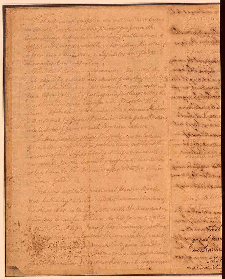 Virginia Declaration of Rights (1776) » Bingo for Patriots- signed on June 12, 1776