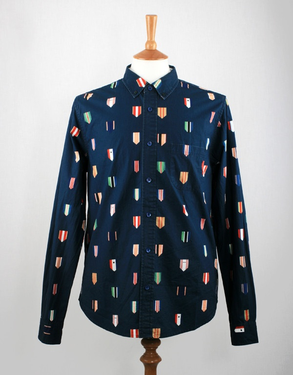 Wood Wood Paradiski Shirt - Navy Blue available from http://www.togsandclogs.com/collections/wood-wood (via @HaddonPR)