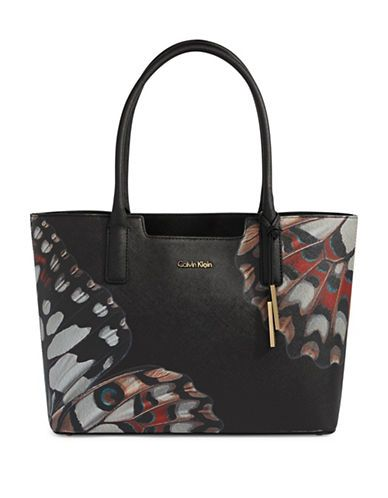 Handbags | Totes | Butterfly Print Leather Tote | Hudson's Bay
