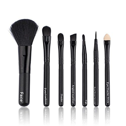 Lookatool 7Pcs Makeup Brushes Set Powder Foundation Eyeshadow Eyeliner Lip Cosmetic Brush Black * Be sure to check out this awesome product.