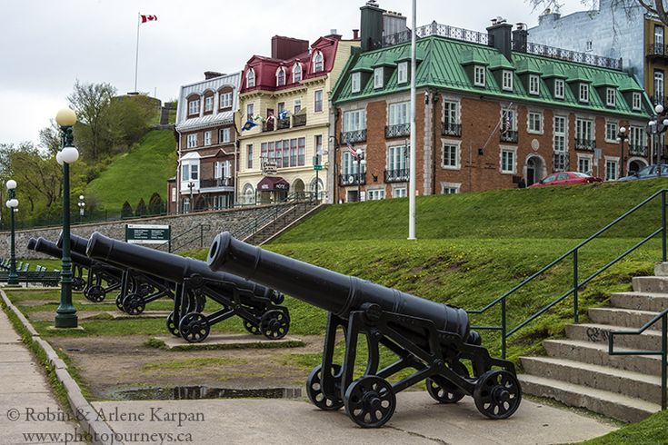 Guns along the waterfront of St. Lawrence River, Quebec City