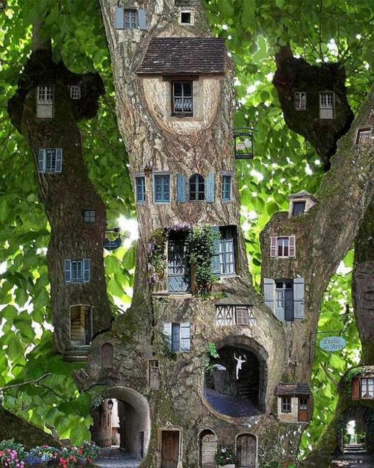 Miniature Fairy Garden Tree House