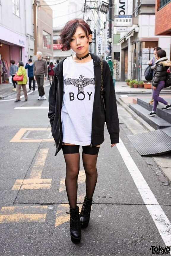Yuu Edgy Street Fashion Street Style 2015 Pinterest Street Japanese Fashion Trends