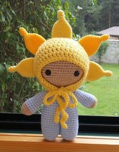 Häkelfieber: Big Head Baby Doll 'Sun In The Sky'