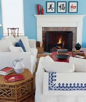 Introduce color on the walls to make a room warm and lively. A blue like this is as versatile as a neutral, such as beige or gray.