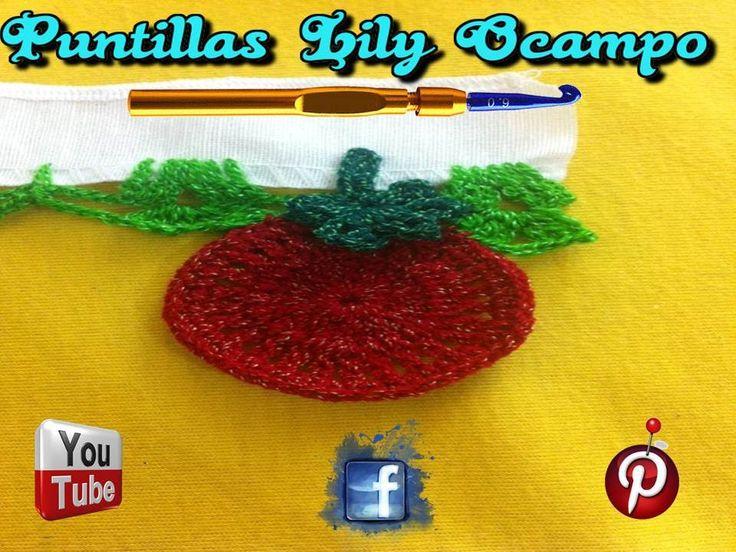 # 3 PUNTILLA  U ORILLA DE JITOMATES--PUNTILLAS LILY OCAMPO