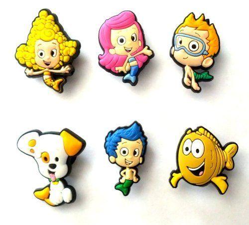 6 pcs Bubble Guppies Shoe Charms Set - Jibbitz Croc Style by Shoe Charmers, http://www.amazon.com/dp/B00AFQXTKC/ref=cm_sw_r_pi_dp_VU8Bsb0X1D6YX