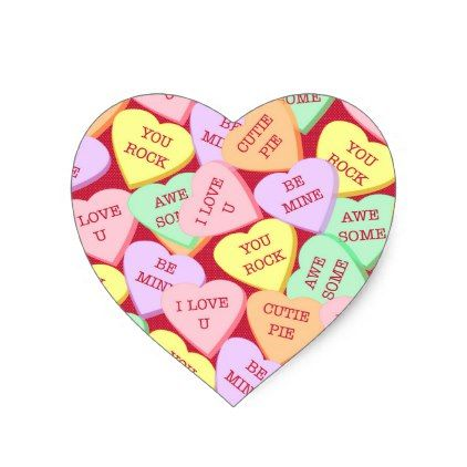 Valentine S Day Candy Hearts Heart Sticker Valentines Day Gifts