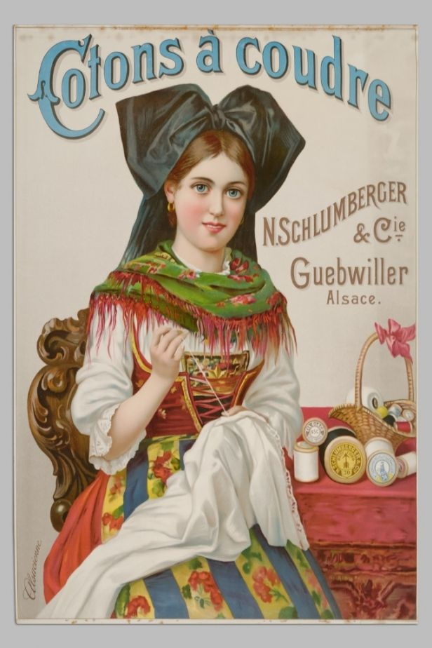 Cotons à coudre N. Schlumberger & Cie - vers 1900 -